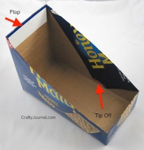 Crafty Journal - Cracker Box Lid Holder