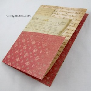 Crafty Journal - Folded Paper Pocket for a Boo