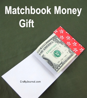 Matchbook Money Gift from Crafty Journal
