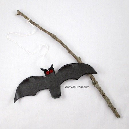 Crafty Journal - Bat on a Stick