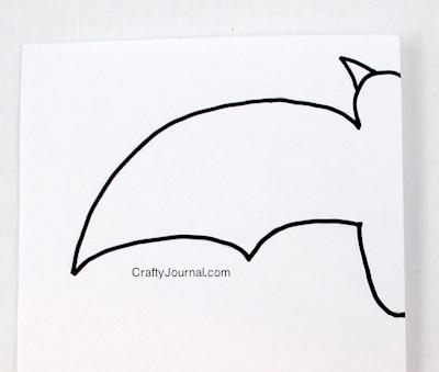 Crafty Journal - Bat on a Stick