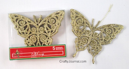Crafty Journal - Butterfly Ornaments