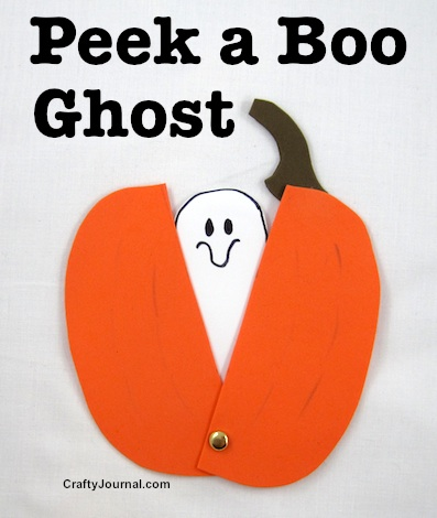 Peek a Boo Ghost by Crafty Journal