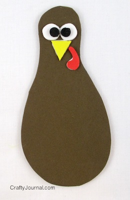Peek a Boo Turkey by Crafty Journal
