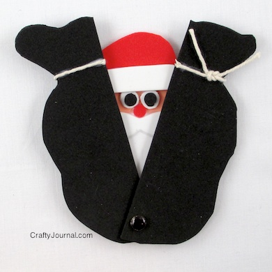 Peek a Boo Santa by Crafty Journal