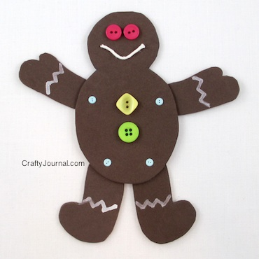Poseable Gingerbread Man by Crafty Journal