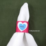 Quick Valentine Napkin Rings - Crafty Journal