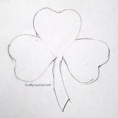 Easy Way to Make a Shamrock - Crafty Journal