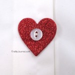 Sparkly Heart Button Covers