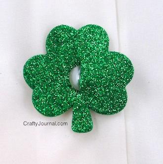 Glitter Shamrock Button Covers - Crafty Journal