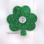Glitter Shamrock Button Covers