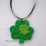 Sparkly Shamrock Necklace