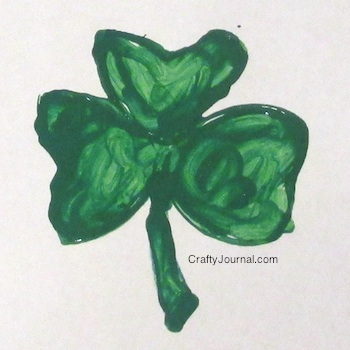 TP Tube Shamrock Stamp - Crafty Journal