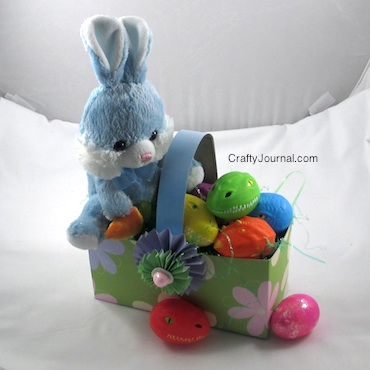 Easter Basket from a Cereal Box - Crafty Journal