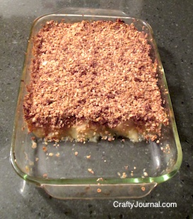 Apple Crisp (Gluten Free) - Crafty Journal