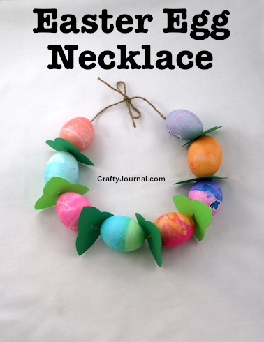 Easter Egg Necklace by Crafty Journal