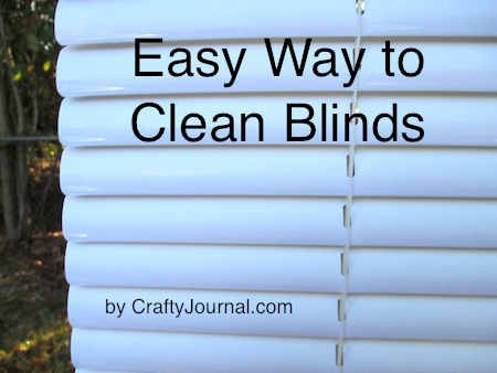 Easy Way to Clean Blinds @ Crafty Journal