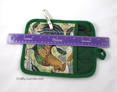 Pot Holder Notepad Pocket - Crafty Journal