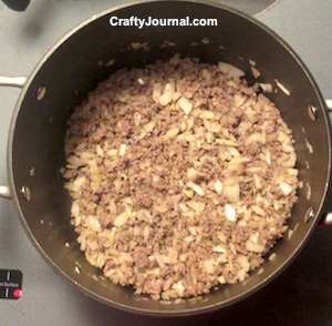 Browned Hamburger and Onions - Crafty Journal