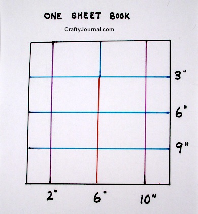 Basic Folded One Sheet Pocket Book - Crafty Journal