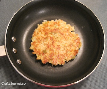 Green Chilis and Cheese Rice Patty - Crafty Journal