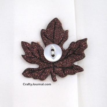 Sparkly Leaf Button Covers - Crafty Journal