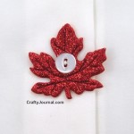 Sparkly Leaf Button Covers