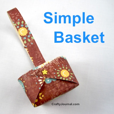 Simple Basket - Crafty Journal