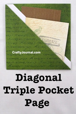 Create a speedy One Sheet Diagonal Triple Pocket Page in just a few minutes. By Crafty Journal