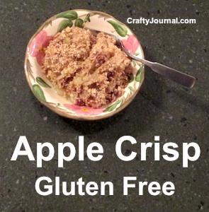 Apple Crisp - Gluten Free. by Crafty Journal