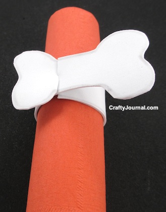 Bone Appetit Napkin Ring by Crafty Journal