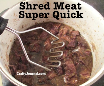 Super Quick Way to Shred Meat by Crafty Journal
