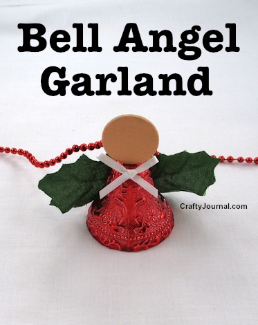 Easy Bell Angel Garland by Crafty Journal
