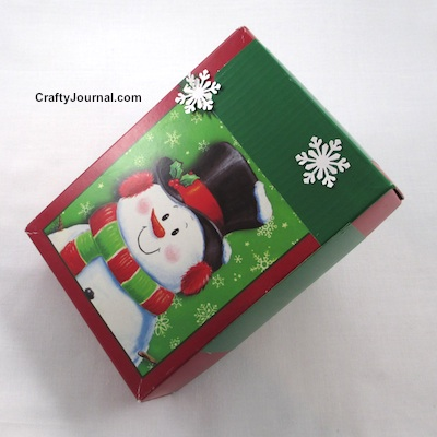 Turn a Christmas Card Box into a Gift Box by Crafty Journal
