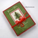 Christmas Card Box into Gift Box – Idea #2