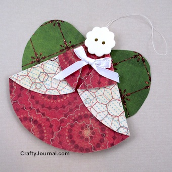 Folded Circle Angel by Crafty Journal