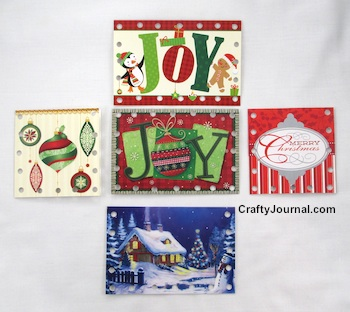 Easy Whip Stitched Christmas Card Box by Crafty Journal