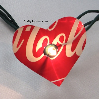 Heart Soda Can Lights by Crafty Journal