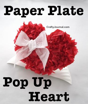 Paper Plate Pop Up Heart