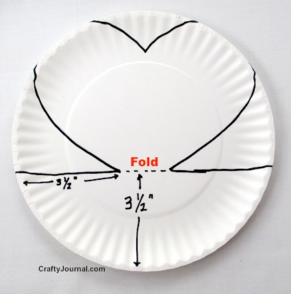 Paper Plate Pop Up Heart by Crafty Journal