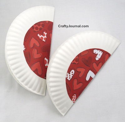 Paper Plate Valentine Card by Crafty Journal & Paper Plate Valentine Card