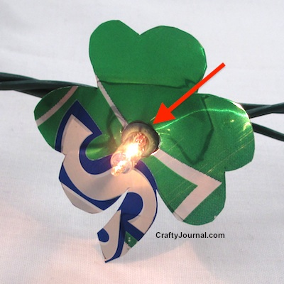 Shamrock Soda Can Lights by Crafty Journal