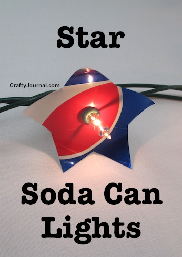 Colorful Star Soda Can Lights by Crafty Journal