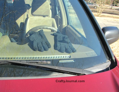 Warm Your Gloves in the Car on a Cold Winter Day by Crafty Journal
