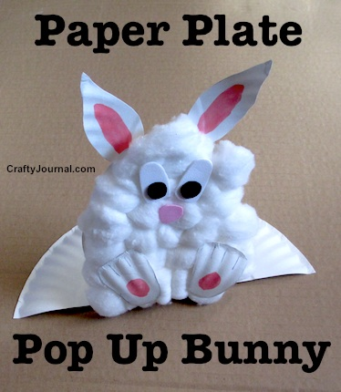 Easy Paper Plate Pop Up Bunny by Crafty Journal & Paper Plate Pop Up Bunny