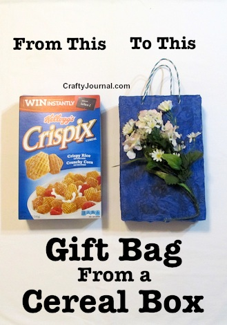 Gift Bag from a Cereal Box by Crafty Journal