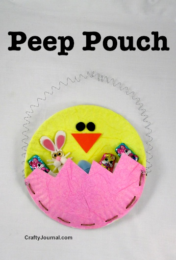 Create a cute Peep Pouch for Easter goodies. by Crafty Journal
