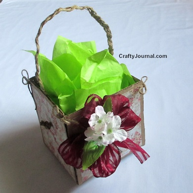 Rustic Basket from a Cardboard Box by Crafty Journal