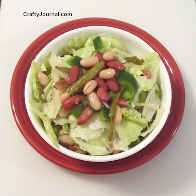 Quick and Easy Bean Salad by Crafty Journal