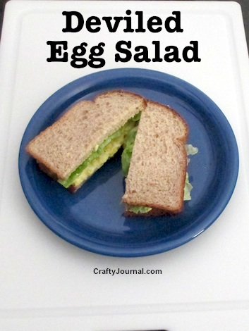 Deviled Egg Salad Recipe - Gluten Free by Crafty Journal